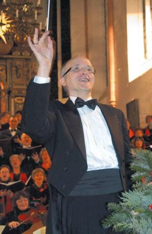 Jürgen Bischof beim Weihnachtskonzert 2009 (Foto: Lisa Martin)