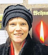 Die Schweizerin Angelika Meier beim Weihnachtskonzert 2013 (Foto: Heiko Schulze)